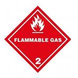 IATA DG Hazard Label Class 2 Flammable Gas 2.1 (50 Pieces)