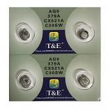 T&E AG0 SR521SW LR521 379 Button Alkaline Battery (4 Pieces)