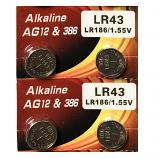 VSAI AG12 SR43SW LR43 386 Button Alkaline Battery (4 Pieces)