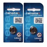 Renata CR1632 Lithium Cell Button Battery (2 Pieces)