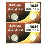 VSAI AG9 SR936SW LR936 LR45 394 Button Alkaline Battery (4 Pieces)