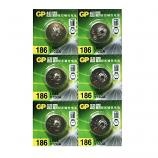 GP LR43 AG12 SR43SW 186 GP86A 386 Alkaline Button Battery (6 Pieces)