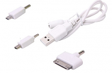 3 in 1 USB Mobile charger Micro USB Mini USB IPhone 4